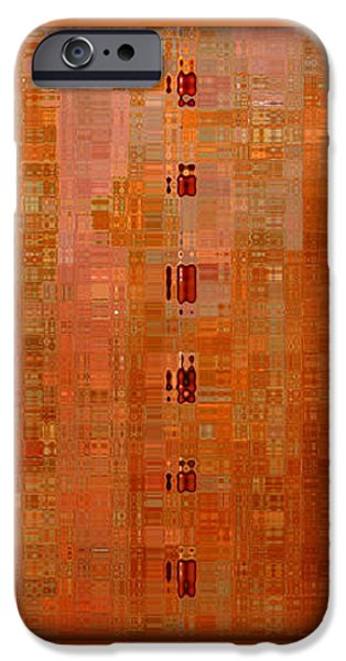 Copper Abstract iPhone Case by Carol Groenen