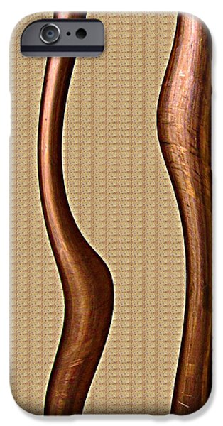 Best Sellers -  - Electrical Equipment iPhone Cases - Copper Curve iPhone Case by Kathy Sheeran