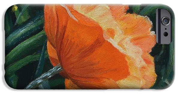 Petals Pastels iPhone Cases - Coquelicot iPhone Case by Marie-Claire Dole