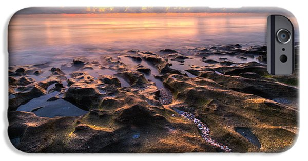 Tidal Photographs iPhone Cases - Coral Beach iPhone Case by Debra and Dave Vanderlaan