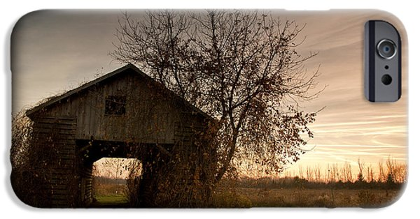 Farm iPhone Cases - Corn Crib iPhone Case by Cale Best