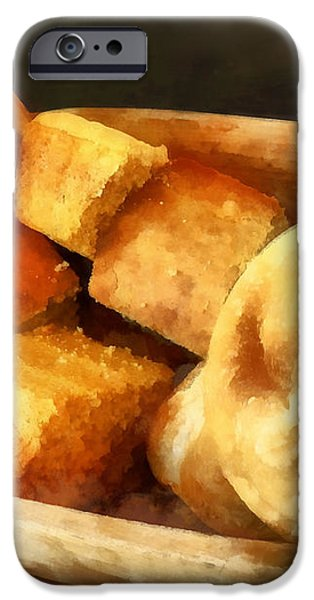 Cornbread and Rolls iPhone Case by Susan Savad