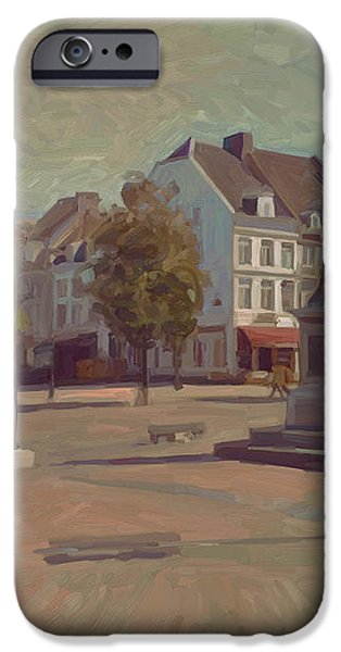 Corner Bosch Street and Market Maastricht iPhone Case by Nop Briex