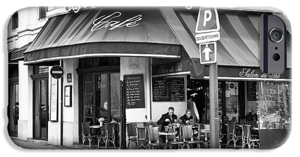Corner iPhone Cases - Corner Cafe iPhone Case by John Rizzuto