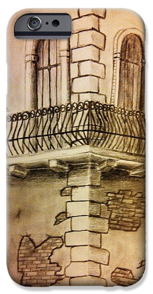 First Term iPhone Cases - Corner in Italy iPhone Case by Irving Starr