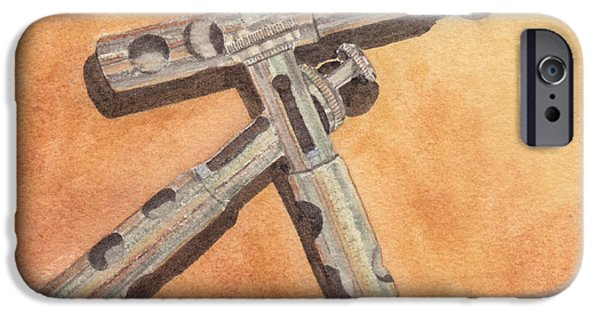Trumpet iPhone Cases - Corroded Trumpet Pistons iPhone Case by Ken Powers