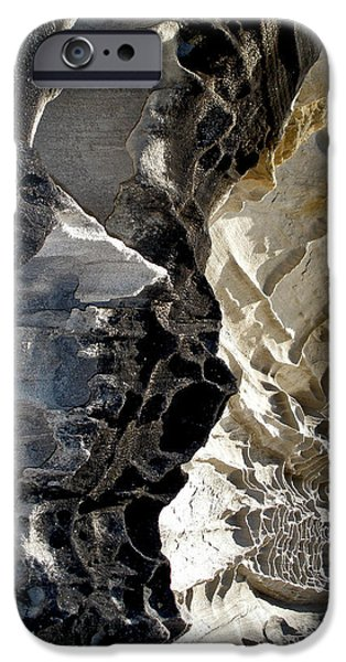Holes In Sandstone iPhone Cases - Corrosion by nature iPhone Case by Kaye Menner