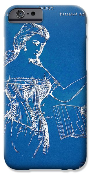 Corset iPhone Cases - Corset Patent Series 1877 iPhone Case by Nikki Marie Smith