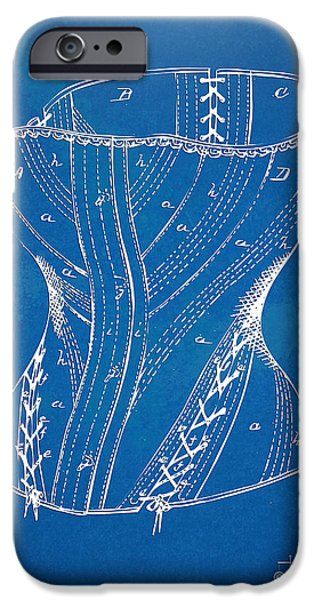 Corset iPhone Cases - Corset Patent Series 1884 iPhone Case by Nikki Marie Smith