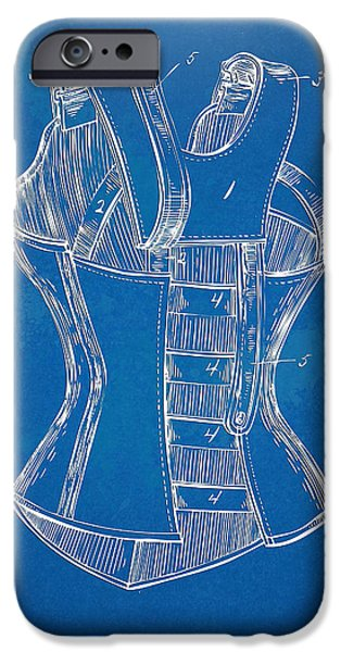Corset iPhone Cases - Corset Patent Series 1894 iPhone Case by Nikki Marie Smith