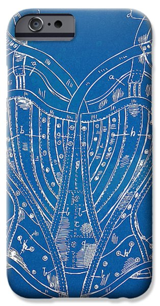 Corset Patent Series 1905 French iPhone Case by Nikki Marie Smith