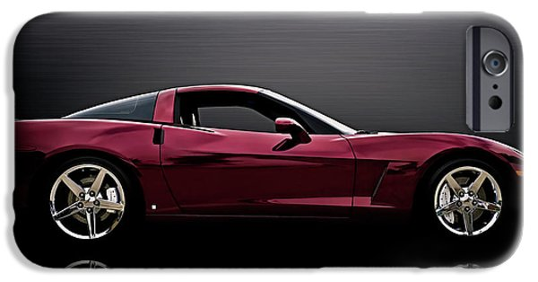 Cars iPhone Cases - Corvette Reflections iPhone Case by Douglas Pittman