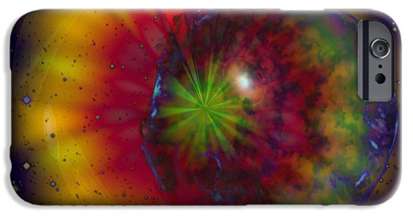 Cosmic Light iPhone Case by Linda Sannuti
