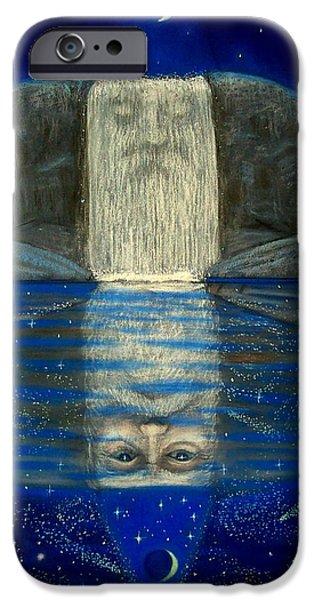 Cosmic Wizard Reflection iPhone Case by Sue Halstenberg