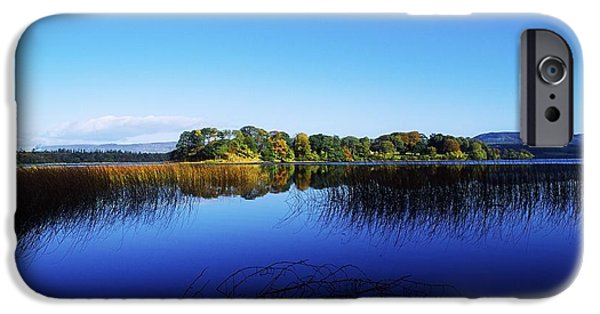Reflections Of Sky In Water iPhone Cases - Cottage Island, Lough Gill, Co Sligo iPhone Case by The Irish Image Collection