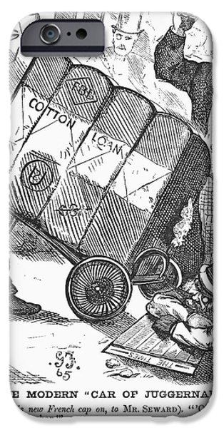 COTTON LOAN CARTOON, 1865 iPhone Case by Granger