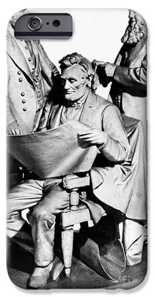 Statue Portrait iPhone Cases - Council Of War iPhone Case by Granger