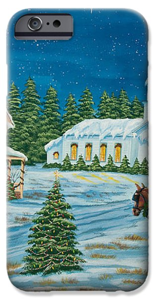 Country Christmas iPhone Case by Charlotte Blanchard