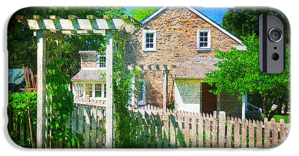 Grist Mill iPhone Cases - Country Garden iPhone Case by Paul Ward