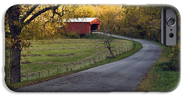 Asphalt iPhone Cases - Country Lane - D007732 iPhone Case by Daniel Dempster
