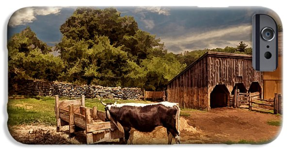 Horse And Buggy Photographs iPhone Cases - Country Life iPhone Case by Lourry Legarde
