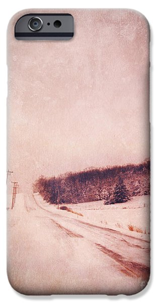 Best Sellers -  - Wintertime iPhone Cases - Country Road in Snow iPhone Case by Jill Battaglia
