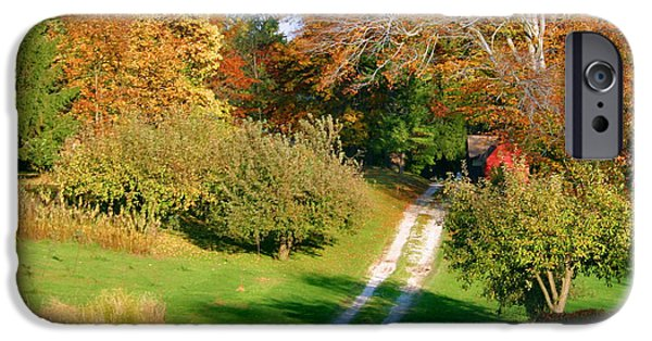Country Dirt Roads iPhone Cases - Country Road Take Me Home iPhone Case by Kristin Elmquist