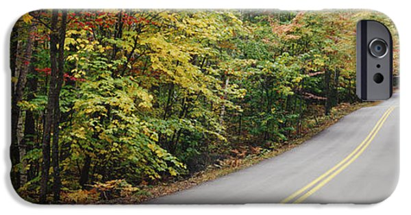 Rural Maine Roads iPhone Cases - Country Road Through Maine Forest iPhone Case by Jeremy Woodhouse