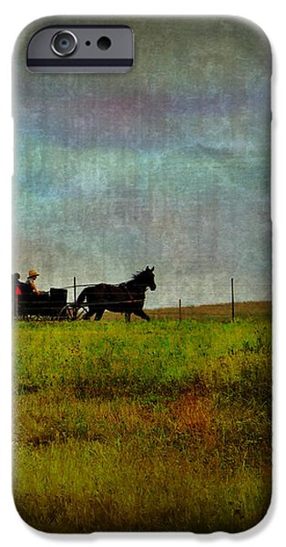 Country Wagon 2 iPhone Case by Perry Webster