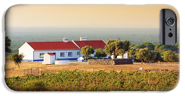 Agriculture iPhone Cases - Countryside House iPhone Case by Carlos Caetano