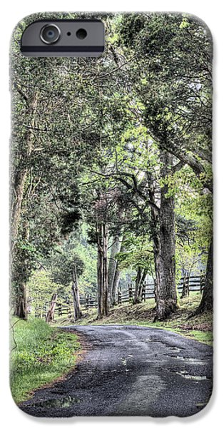 County Roads iPhone Case by JC Findley