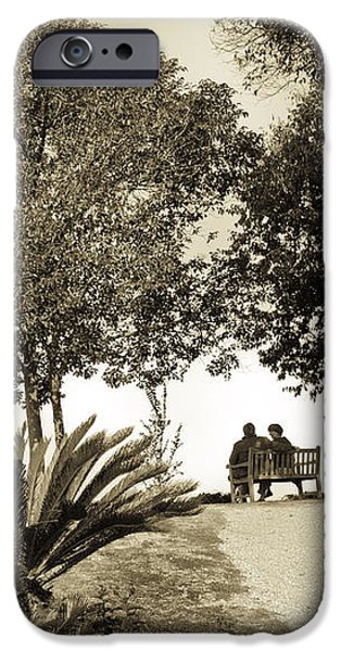 Couple on the Bench in Venice iPhone Case by Madeline Ellis