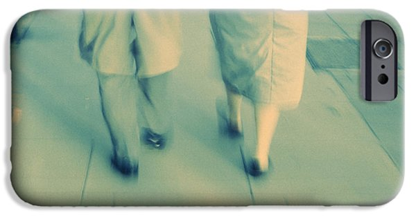 Relationship iPhone Cases - Couple Walking iPhone Case by Kevin Curtis