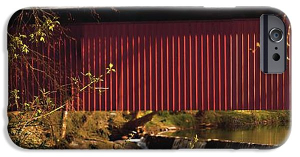 Covered Bridge iPhone Cases - Covered Bridge iPhone Case by Tom Gari Gallery-Three-Photography