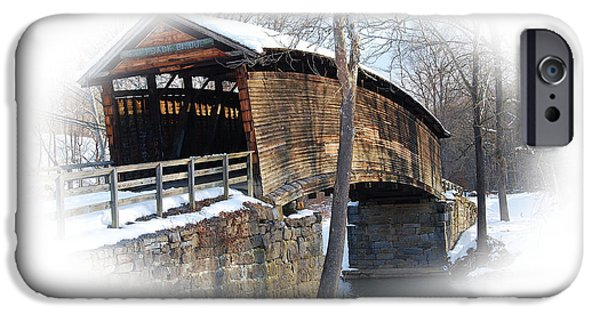 Covered Bridge iPhone Cases - Covered Bridge iPhone Case by Todd Hostetter