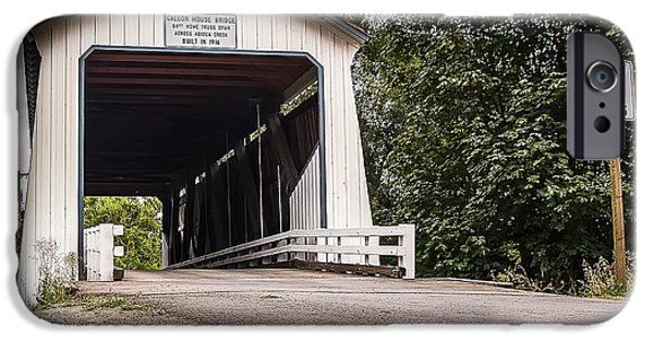 Covered Bridge iPhone Cases - Covered Oregon Bridge iPhone Case by Darcy Michaelchuk