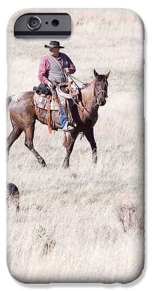 Cowboy iPhone Case by Cindy Singleton