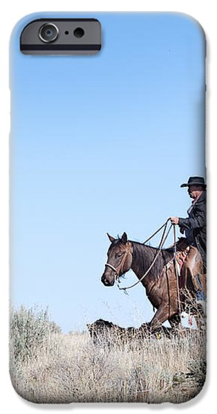 Cowboy Desert Moon iPhone Case by Cindy Singleton
