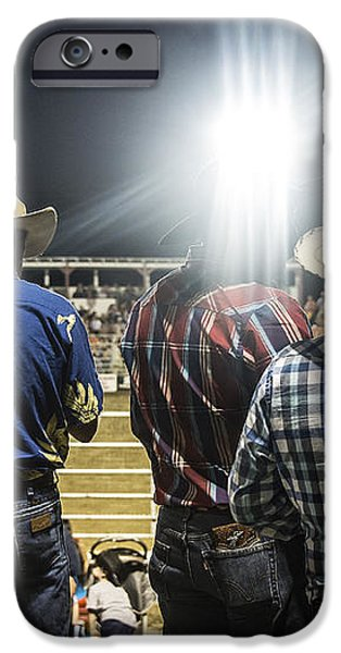 Cowboys at Rodeo iPhone Case by John Greim