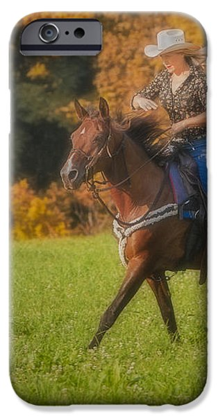 Cowgirl iPhone Case by Susan Candelario