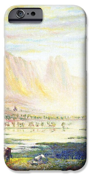 Cows in the Mountain iPhone Case by Wingsdomain Art and Photography