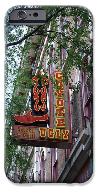 Nashville Architecture iPhone Cases - Coyote Ugly Saloon Nashville iPhone Case by Susanne Van Hulst