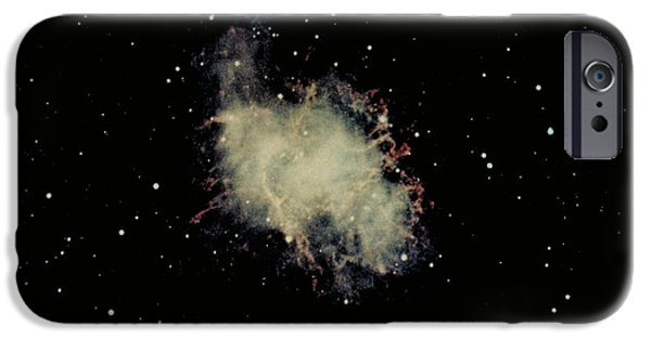 Constellations iPhone Cases - Crab Nebula iPhone Case by Hale Observatories