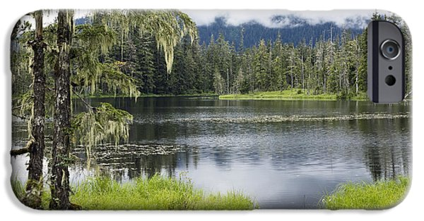 Tongass iPhone Cases - Crane Lake, Tongass National Forest iPhone Case by Konrad Wothe