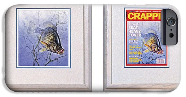 Cover Art iPhone Cases - Crappie Magazine and original iPhone Case by JQ Licensing