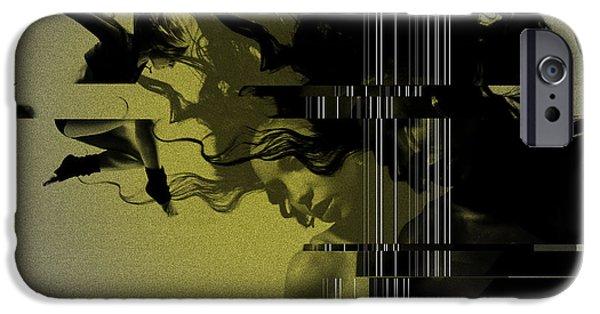 Couple Digital Art iPhone Cases - Crash iPhone Case by Naxart Studio
