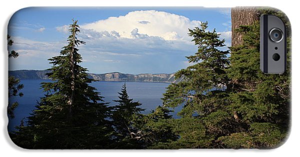 Approaching Storm iPhone Cases - Crater Lake 8 iPhone Case by Carol Groenen