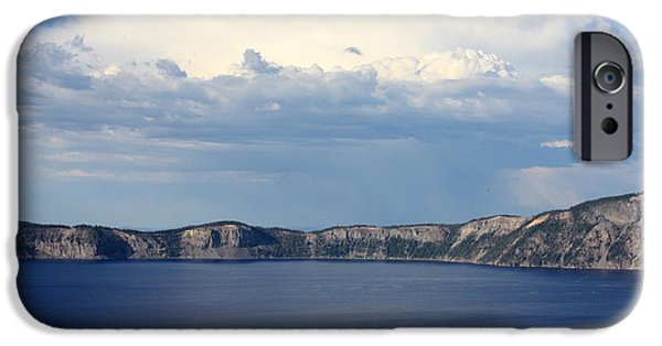 Approaching Storm iPhone Cases - Crater Lake iPhone Case by Carol Groenen