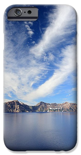 Crater Lake sky iPhone Case by Pierre Leclerc Photography