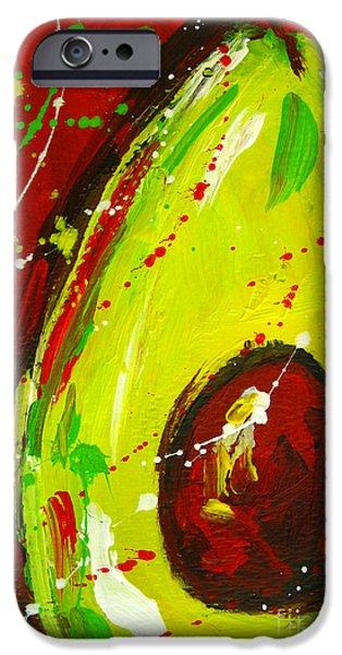 Crazy Avocado 3 iPhone Case by Patricia Awapara